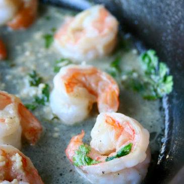 Cilantro-Lime Shrimp Skillet