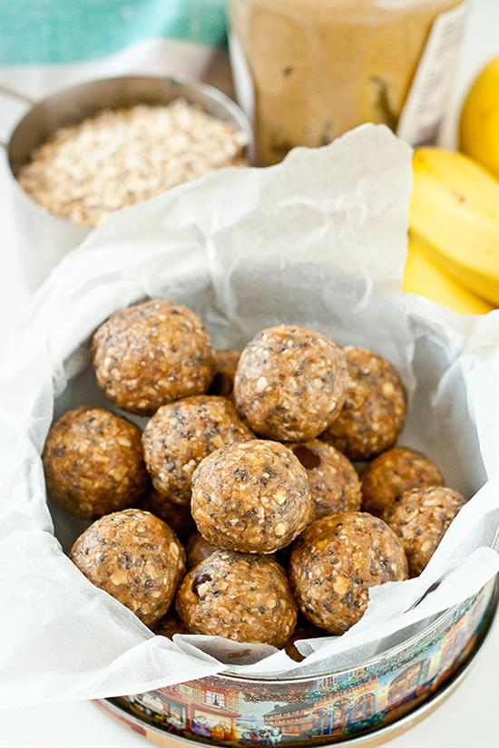 Oat, Chia Seed and Peanut Butter Protein Balls